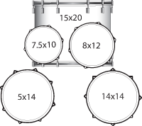 Ludwig Drums - Element Complete Drum Kit