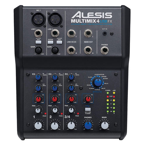 Alesis MultiMix 4-Channel Mixer w/ Effects & USB Audio Interface