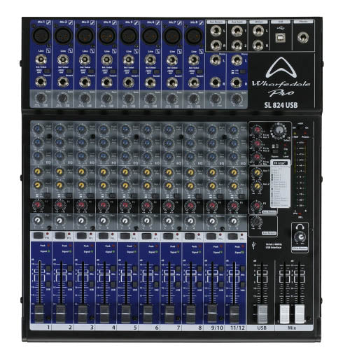 Wharfedale SL824USB - 12 Channel Mixer