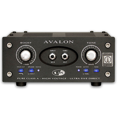 Avalon Avalon U5-B Mono Instrument & DI Preamplifier Black Version - Quest Music Store