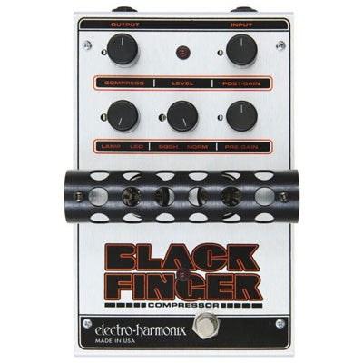 Electro-Harmonix Black Finger Optical Tube Compressor Pedal - Quest Music Store