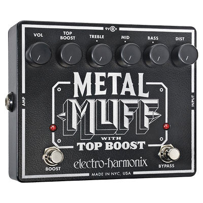 Electro-Harmonix Metal Muff Distortion Pedal with Top Boost - Quest Music Store