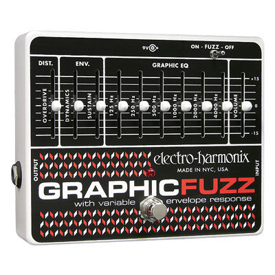 Electro-Harmonix Graphic Fuzz EQ/Distortion/Sustainer Pedal - Quest Music Store