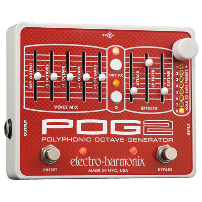 Electro-Harmonix POG2 Polyphonic Octave Generator Pedal - Quest Music Store