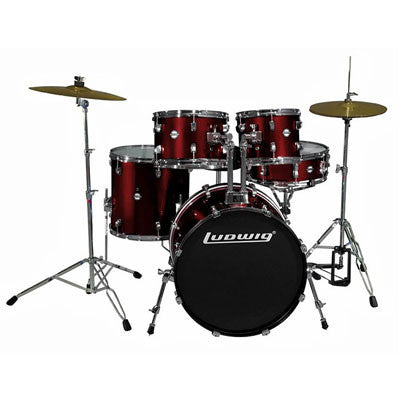 "Ludwig Drums - Accent Fuse 20"" 5-Piece Drum Kit - Quest Music Store"