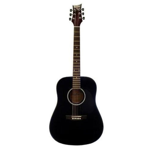 Beaver Creek BCTD101BK Dreadnought Acoustic Guitar, Black
