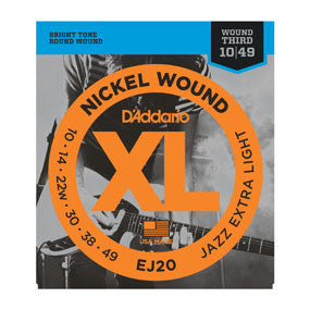 D'Addario EJ20 Nickel Wound, JazzExtra Light, 10-49 - Quest Music Store