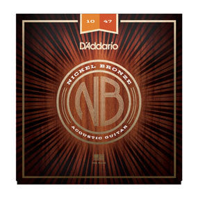 D'Addario Nickel Bronze Acoustic Strings - Extra Light - 10-47
