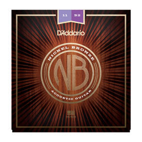 D'Addario Nickel Bronze Acoustic Strings - Custom Light - 11-52