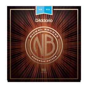 D'Addario Nickel Bronze Acoustic Strings - Light Gauge - 12-53
