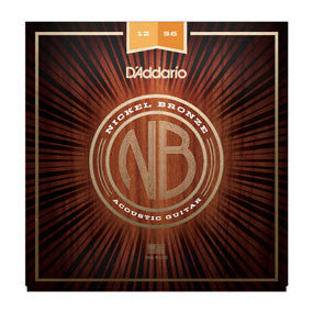 D'Addario Nickel Bronze Acoustic Strings - Light Top/Medium Bottom - 12-56
