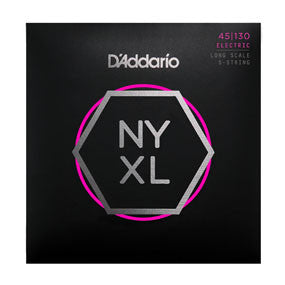 D'Addario NYXL 45-130 Long Scale Bass Stings - 5-String