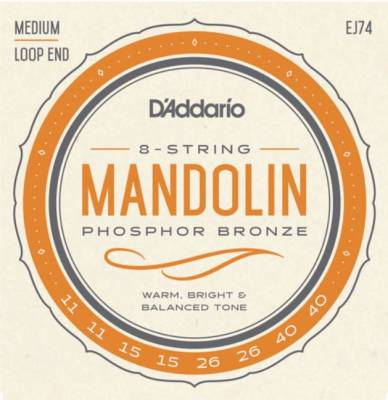D'Addario EJ74 Phosphor Bronze Mandolin Strings Medium 11-40