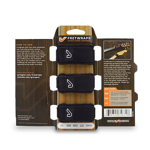 Gruvgear FretWraps String Muters - 3 Pack - Large