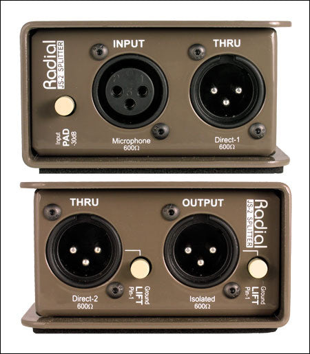 Radial JS2 Passive Microphone Splitter - Quest Music Store