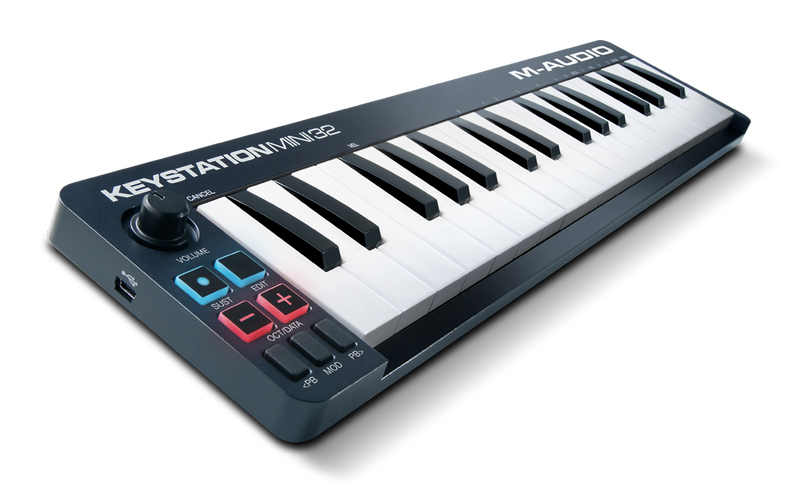 M-Audio Keystation Mini 32 - 32-Key Portable Keyboard Controller - Quest Music Store