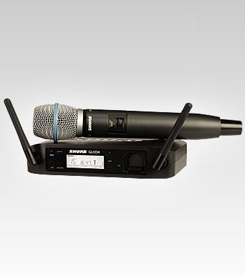 Shure GLXD24/BETA87A Handheld Wireless System - Quest Music Store
