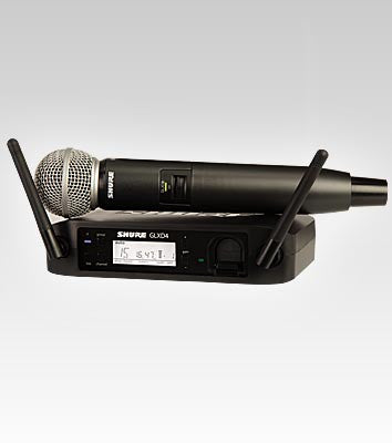 Shure GLXD24/SM58 Handheld Wireless System - Quest Music Store