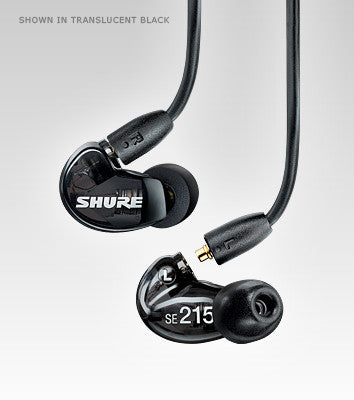Shure SE215 Isolating Earphones with Single Driver