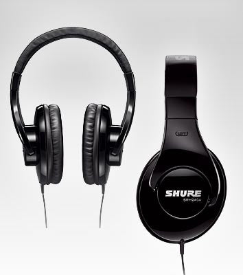 Shure SRH240A Headphones with Attached Cable - Quest Music Store