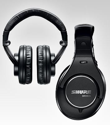Shure SRH840 Professional Monitor Headphones with Detachable Cable - Quest Music Store