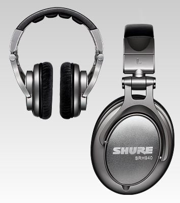 Shure SRH940 Professional Monitor Headphones with Detachable Cable - Quest Music Store