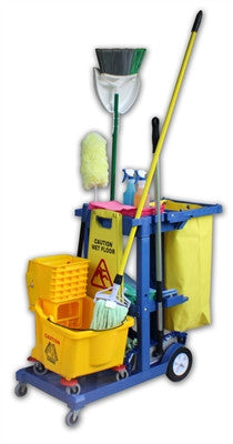 Janitor Supply Cart | Blue
