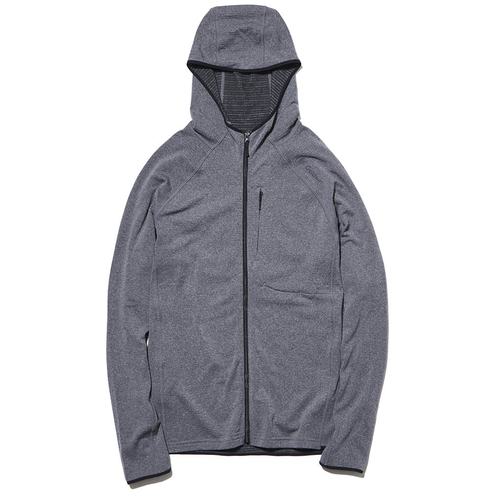 Men's Wool Grid Zip Hoodie