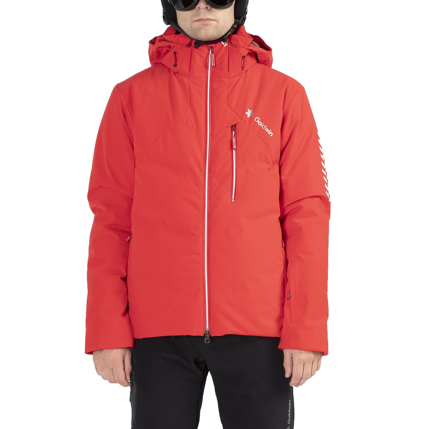 LUCUS HYBRID DOWN JACKET FIRE RED