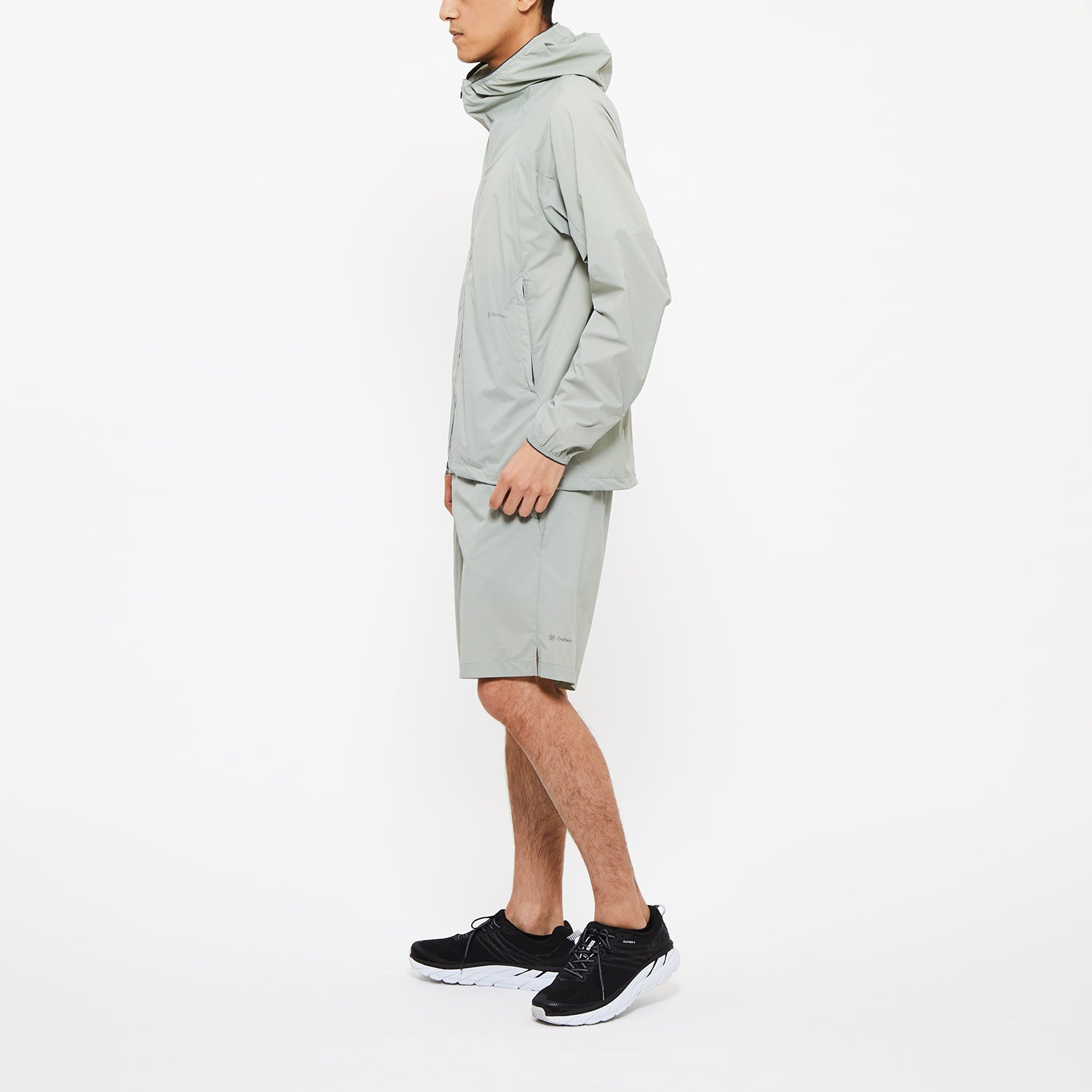 WOVEN STRETCH HOODIE BLACK