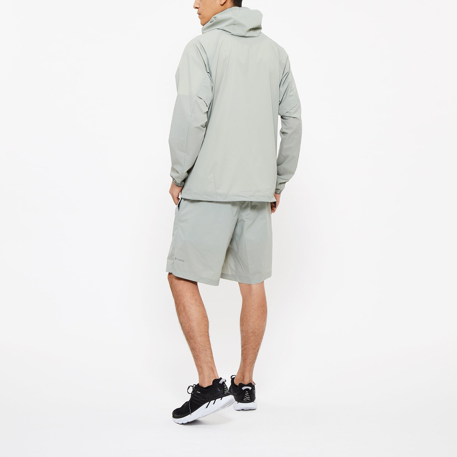 WOVEN STRETCH HOODIE - MIRAGE GRAY