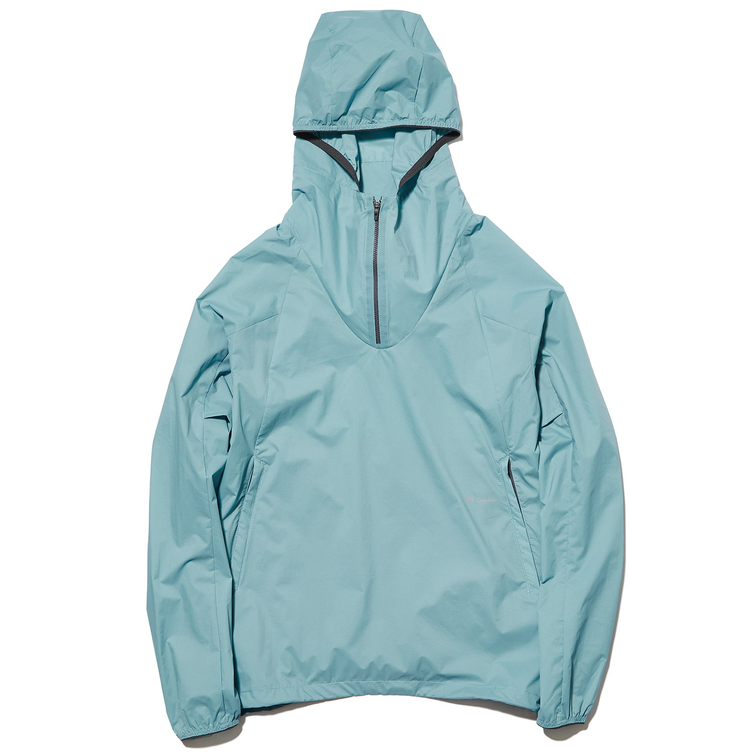 WOVEN STRETCH HALF ZIP PULLOVER HORIZON BLUE