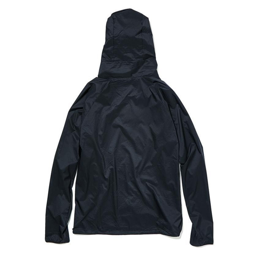 WOVEN HOODED PULLOVER BLACK