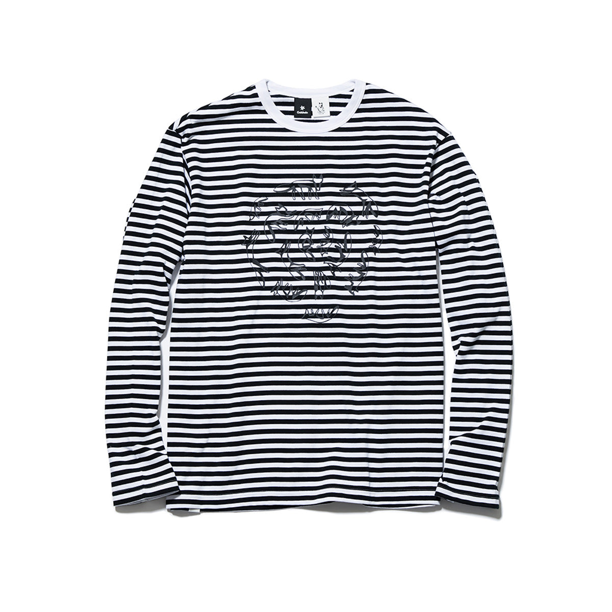 BORDER CREW NECK LONG SLEEVES