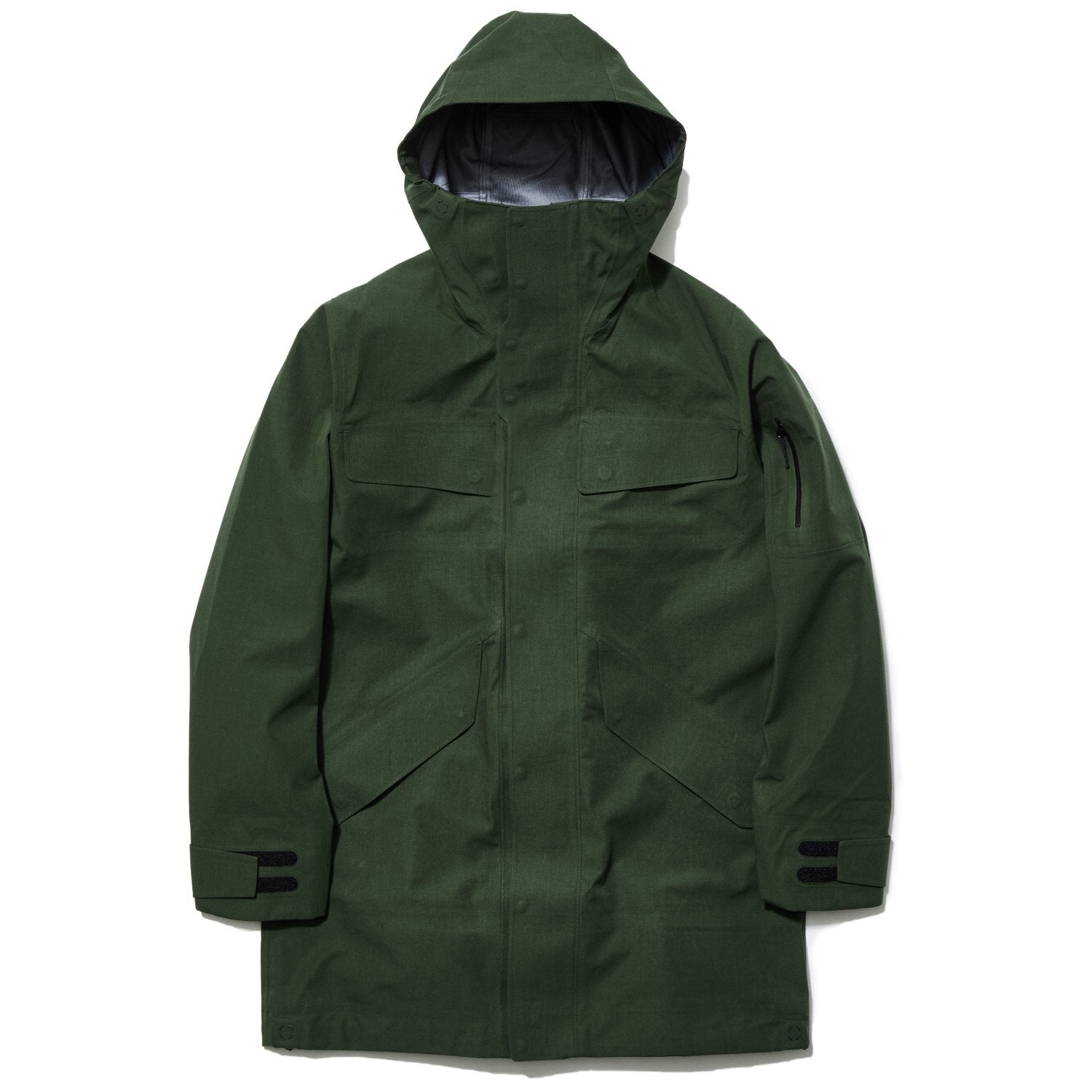 HOODED GORE-TEX COAT BLACK