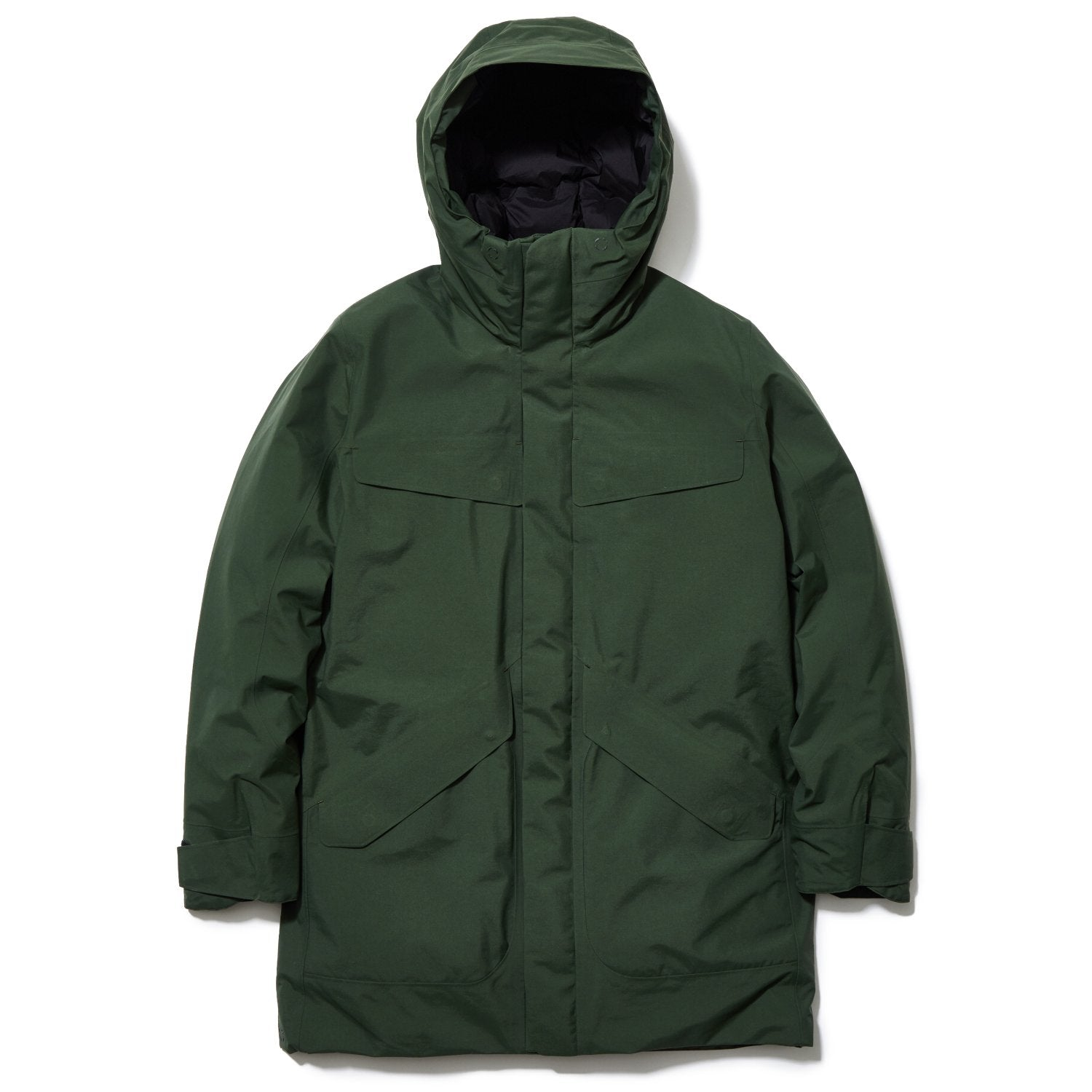 HOODED SPUR DOWN COAT COYOTE