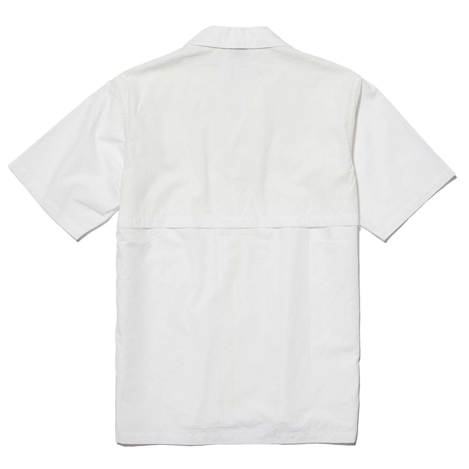 OPEN COLLAR S/S SHIRT WHITE