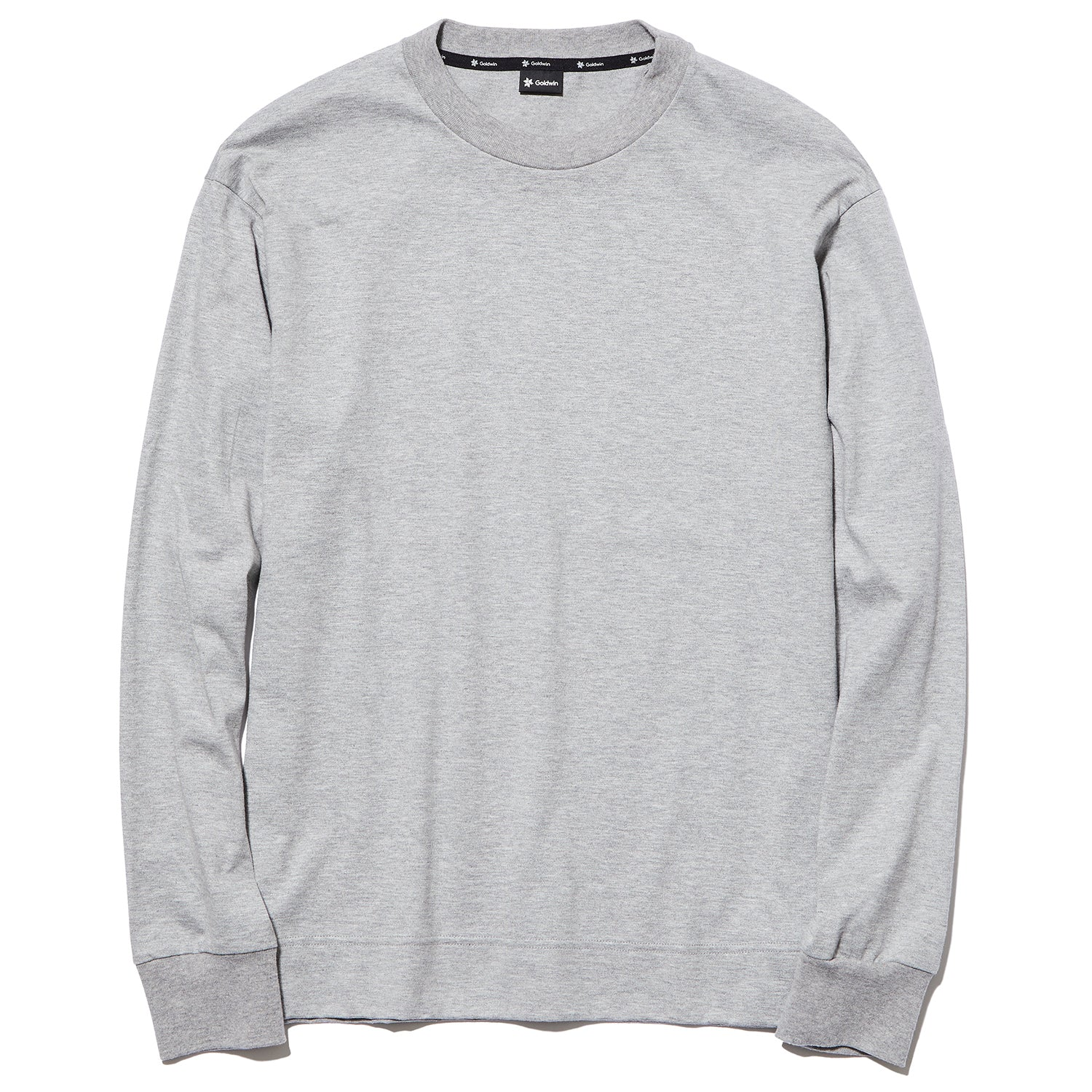 CREW NECK L/S TEE HEATHER GRAY