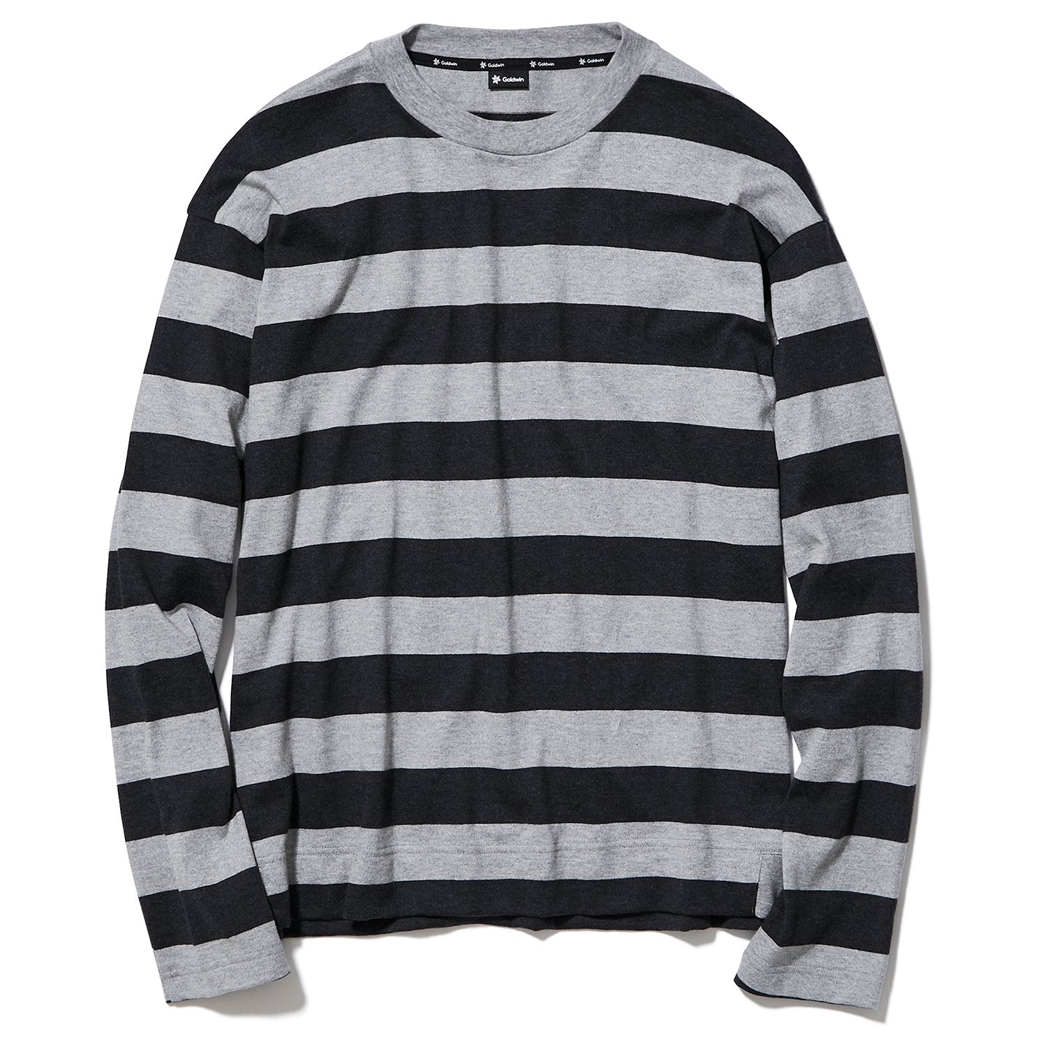 BORDER JERSEY LONG SLEEVES HEATHER GRAY