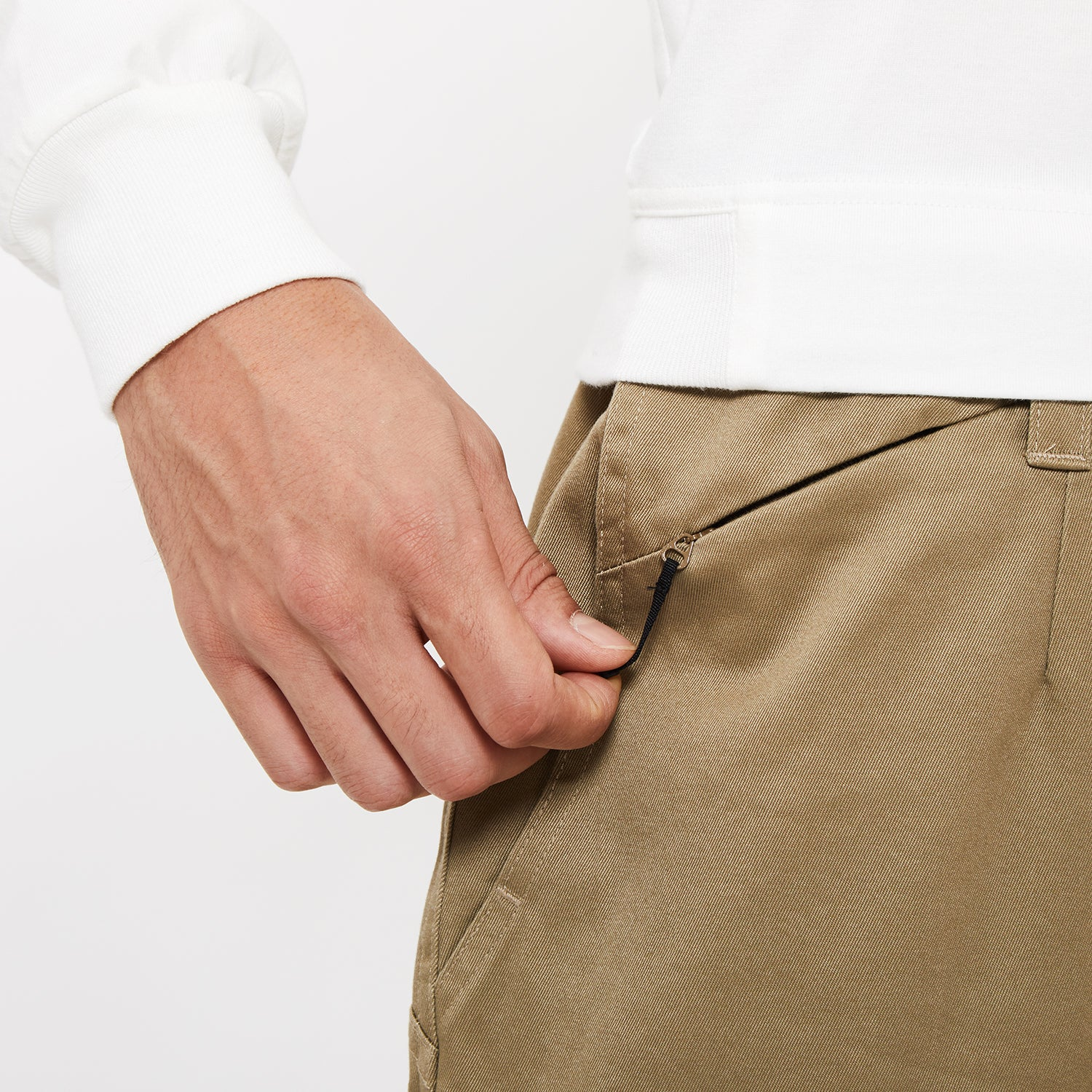 WIDE CHINO PANTS BEIGE