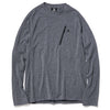 WOOL GRID CREW HEATHER GRAY