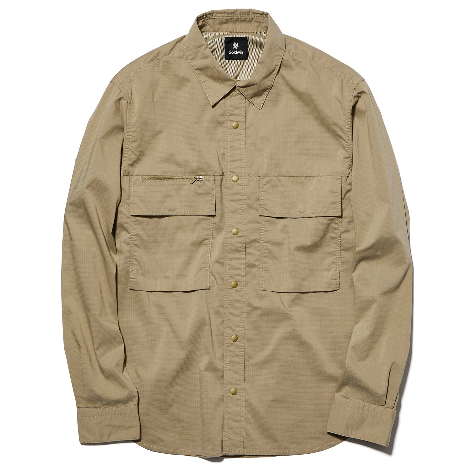 UTILITY RIPSTOP SHIRT SAND BEIGE
