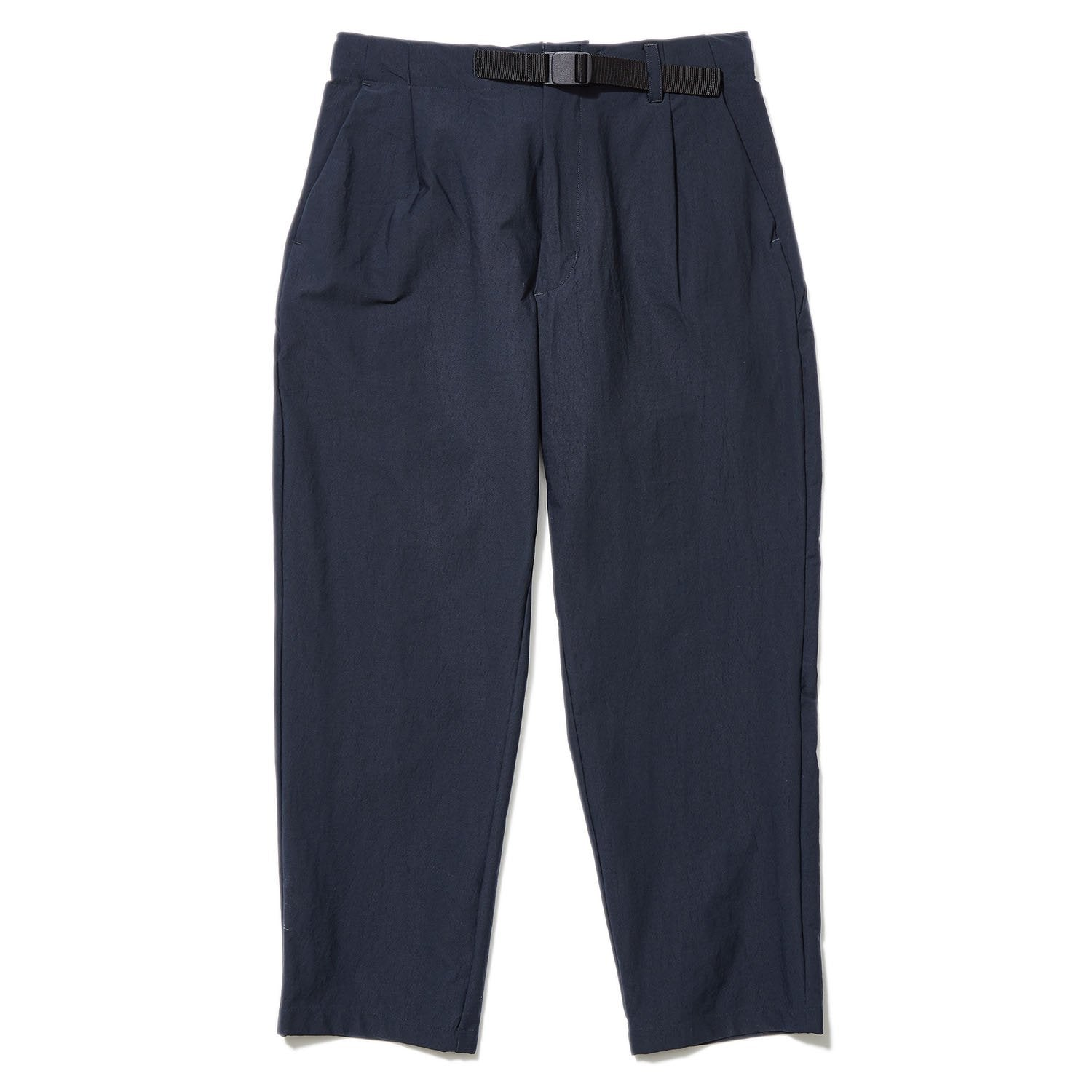 ONE TUCK TAPERED STRETCH TROUSERS DARK NAVY