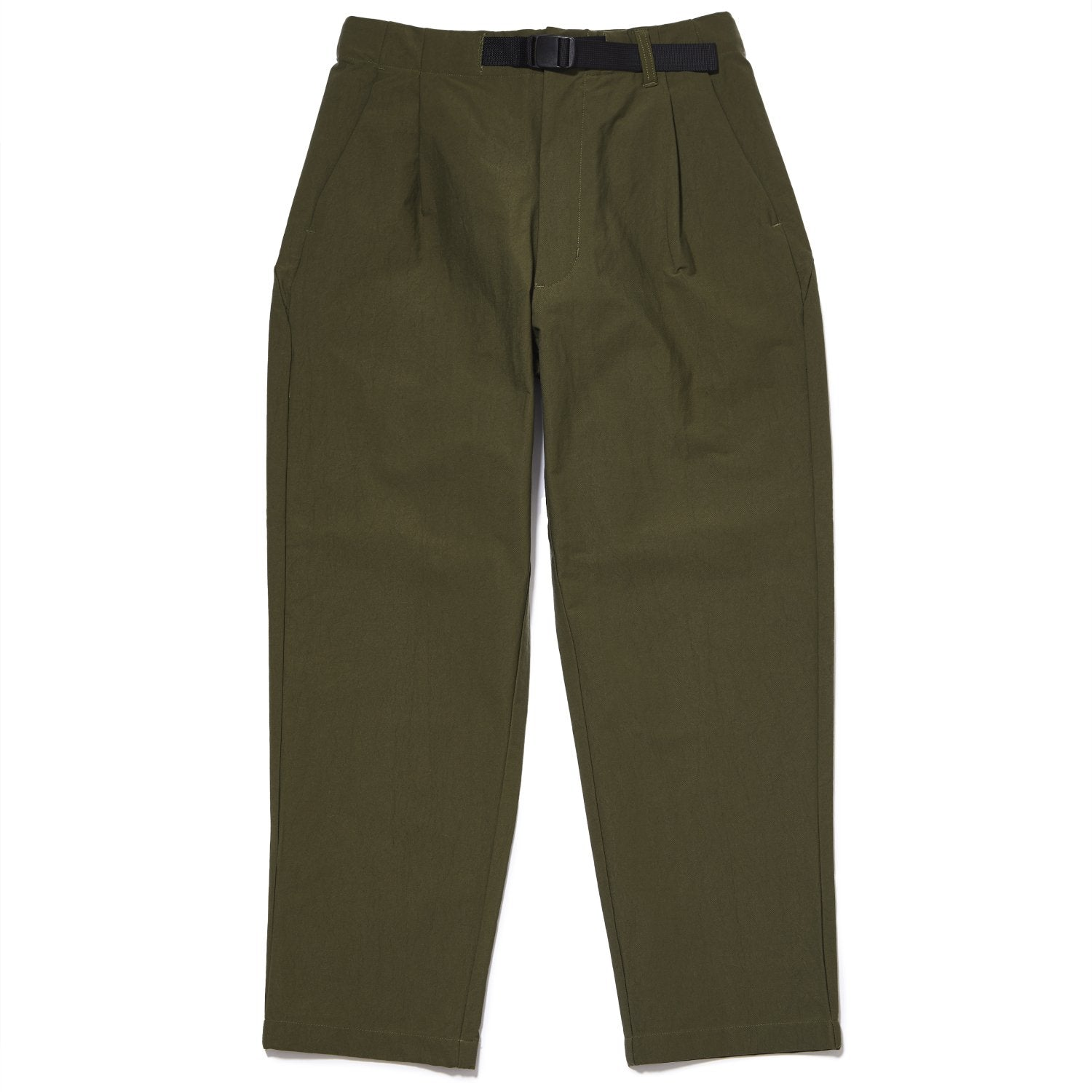 ONE TUCK TAPERED STRETCH TROUSERS