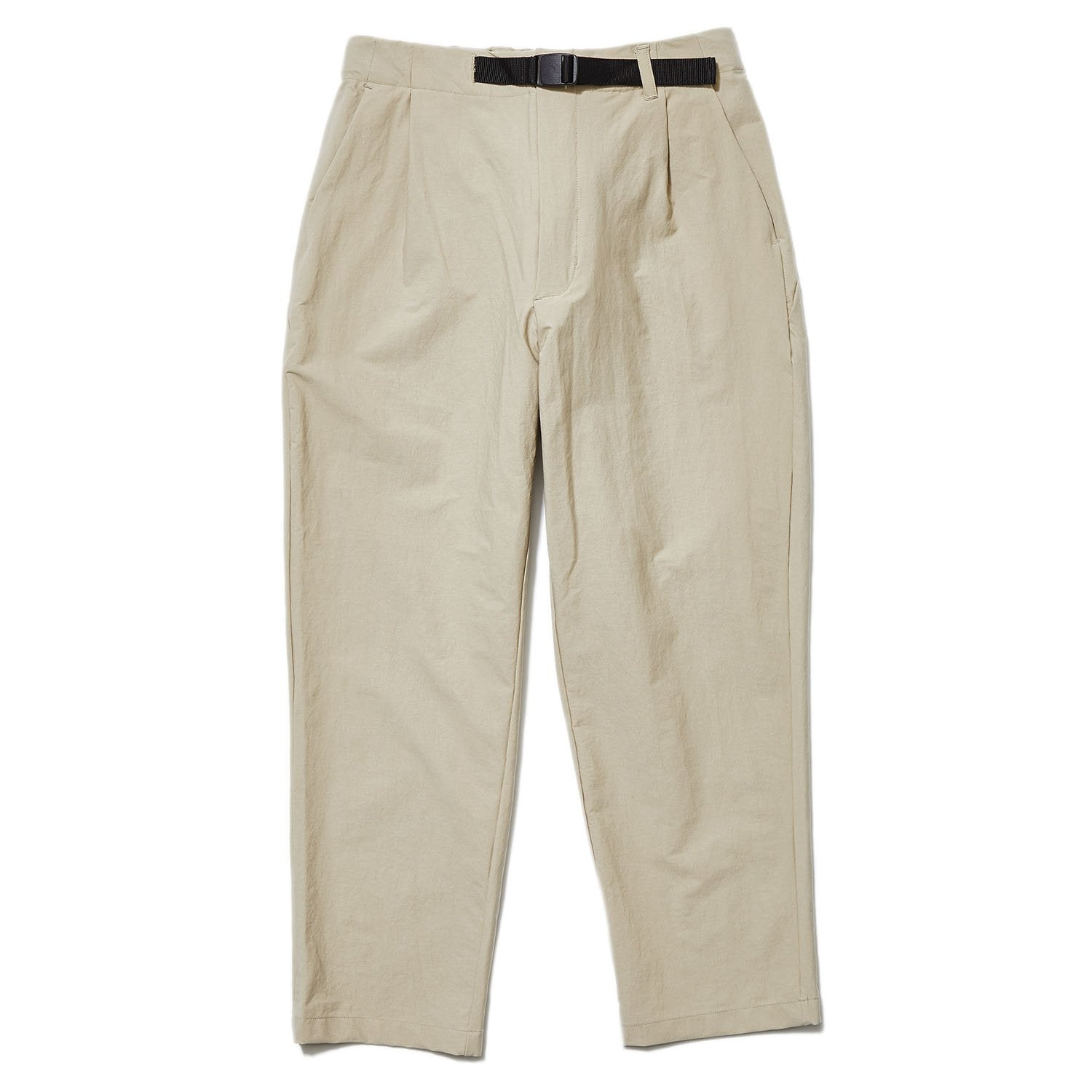 ONE TUCK TAPERED STRETCH TROUSERS SAFARI