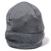WOOL GRID BEANIE HEATHER GRAY