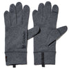 WOOL GRID GLOVES HEATHER GRAY