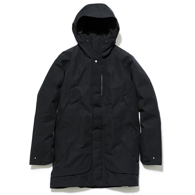 HOODED SPUR GORE-TEX DOWN COAT