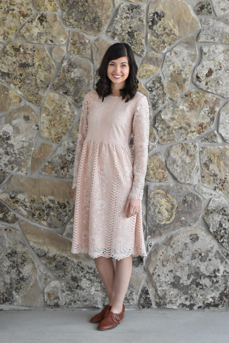The Blushing Lace Dress
