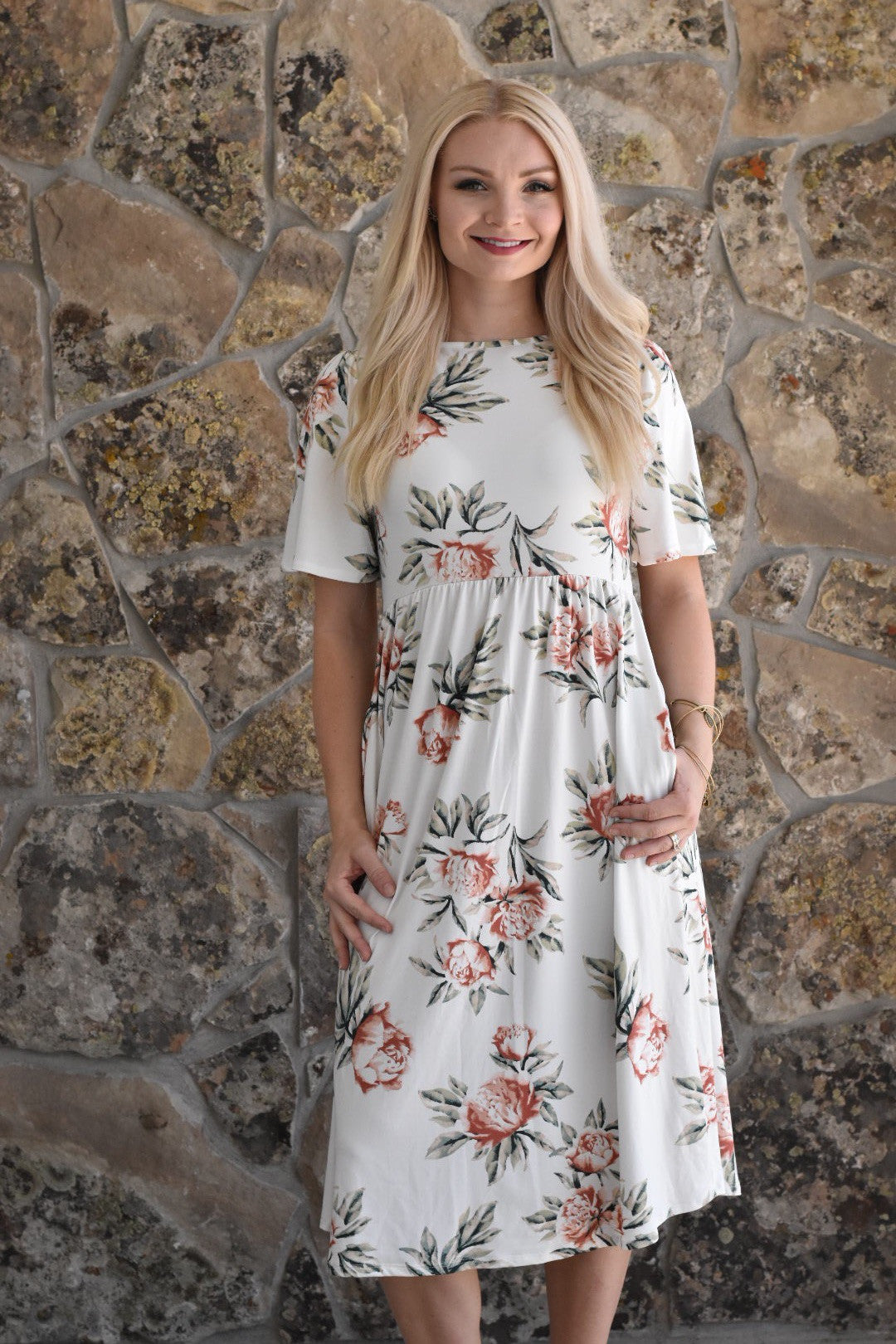 41b2f6b4540 The Classic Floral Dress – Salt City Clothing